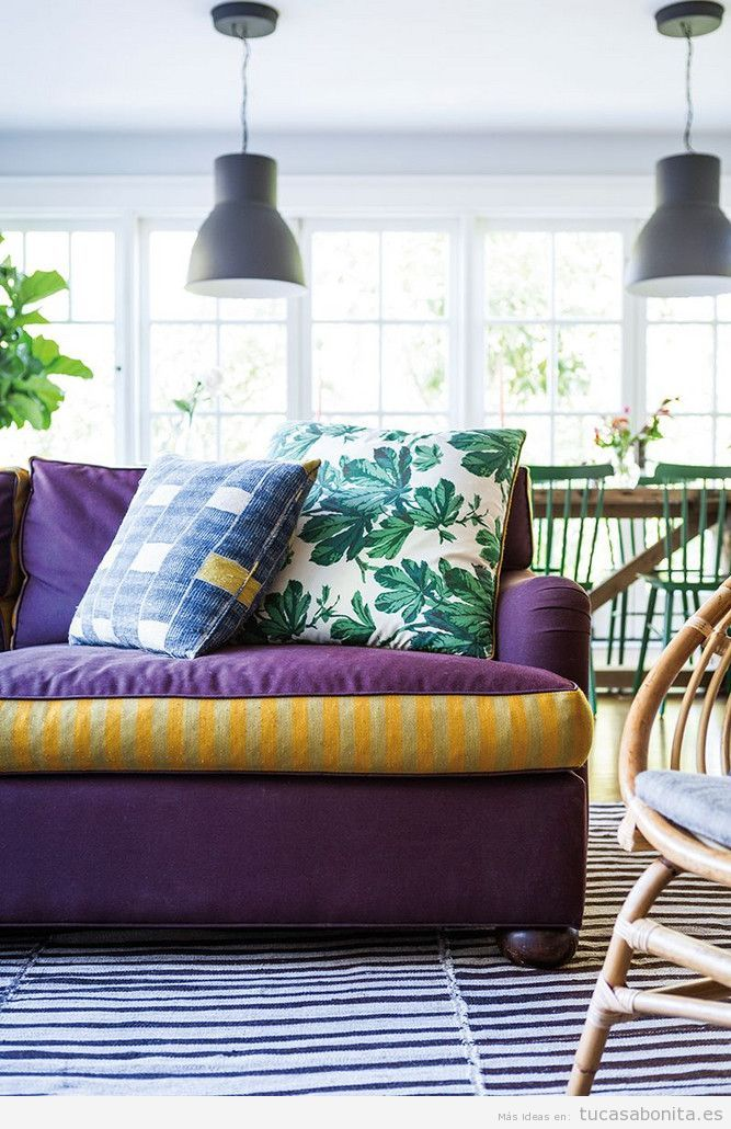 Tendencia decoración casa color pantone año 2018 ultra violet 4