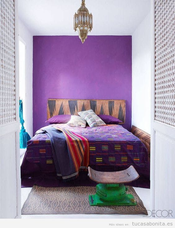 Tendencia decoración casa color pantone año 2018 ultra violet 5
