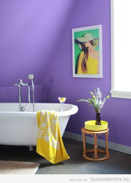 Tendencia decoración casa color pantone año 2018 ultra violet 9
