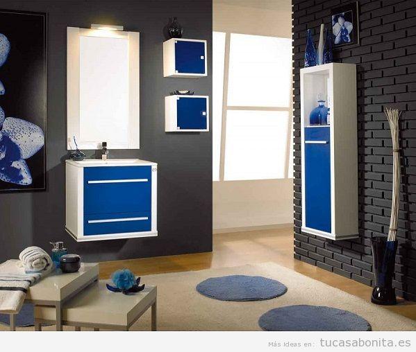 Muebles de baño modernos color azul