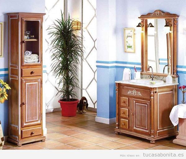 Muebles de ba o vintage o moderno tu casa bonita for Muebles estilo clasico moderno