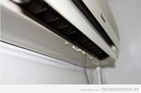 Goteo agua aparato aire acondicionado