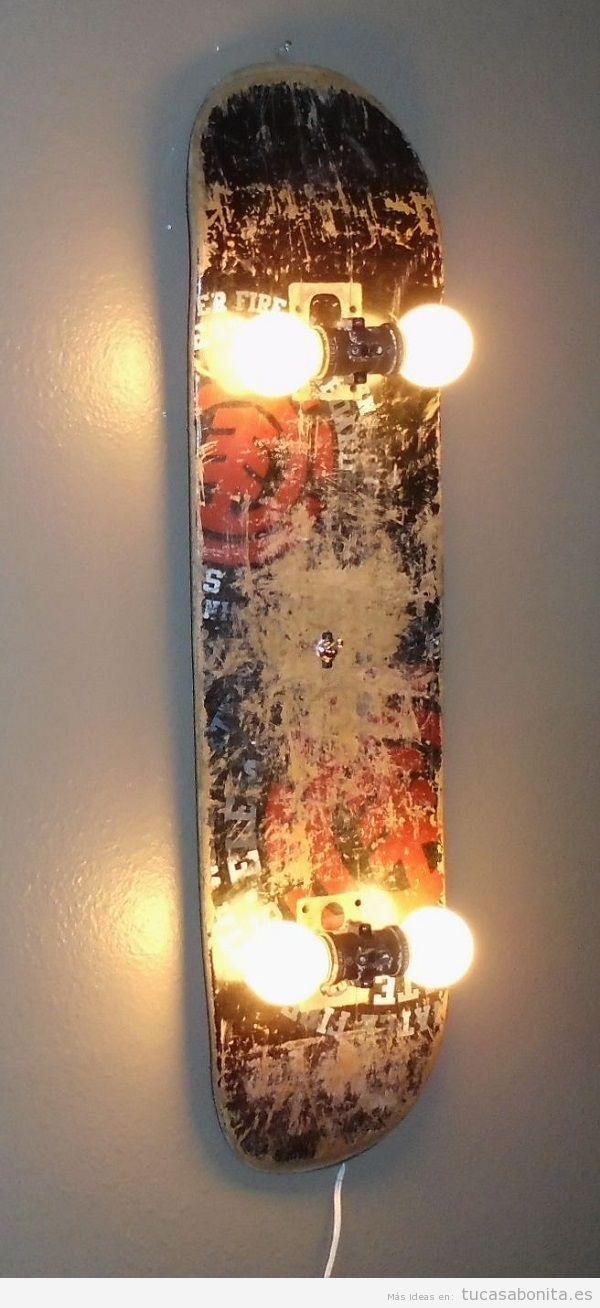 Lámpara DIY pared skate