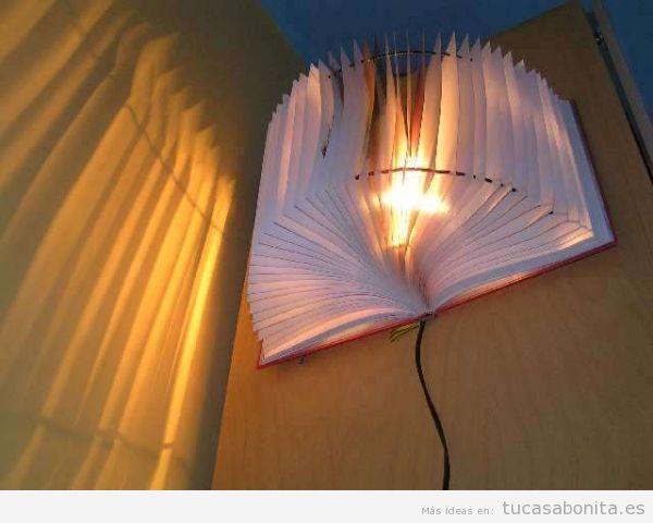 Lámpara DIY libr