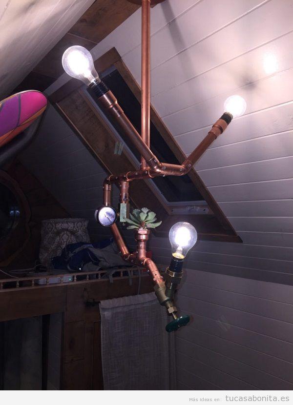 Lámpara DIY tuberías