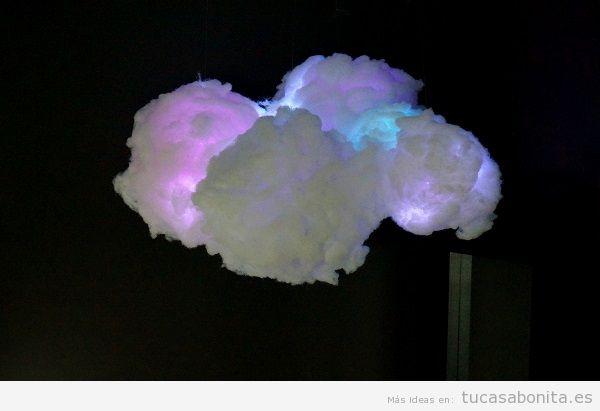 Lámpara DIY nube de algodón