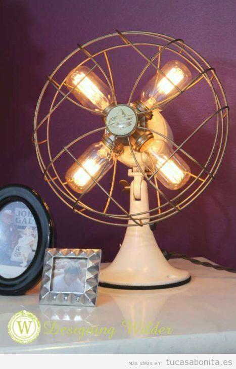 Lámpara DIY ventilador antiguo