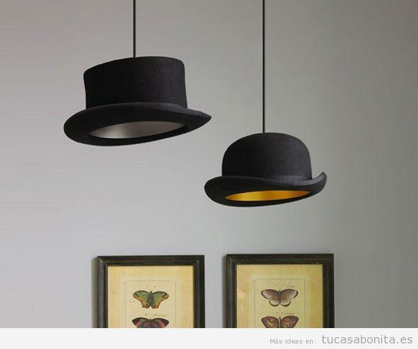 Lámpara DIY sombreros