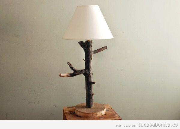 Lámpara DIY troncos