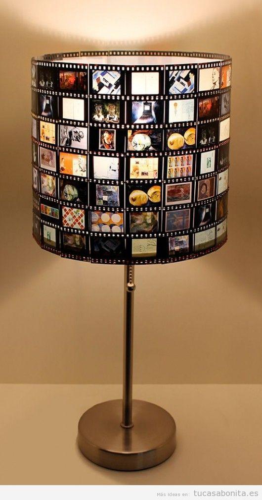 Lámpara DIY negativos fotos