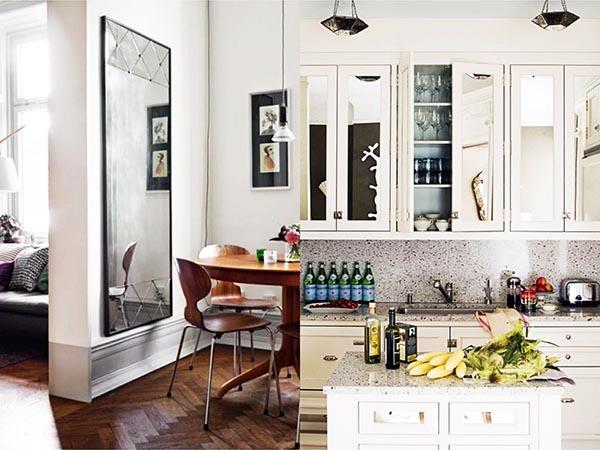Consejos aprovechar espacios pisos pequeños, espejos