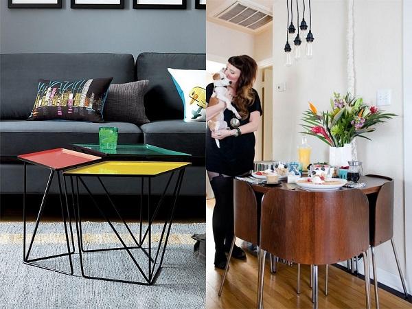 Consejos aprovechar espacios pisos pequeños, mesas apilables