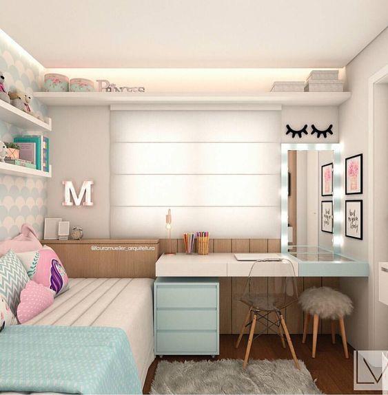 Ideas decoración dormitorios juveniles pequeños