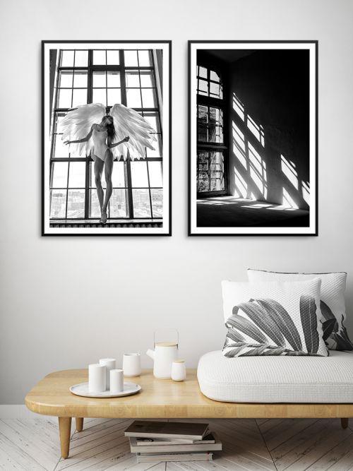 Cuadro decorativo ventana