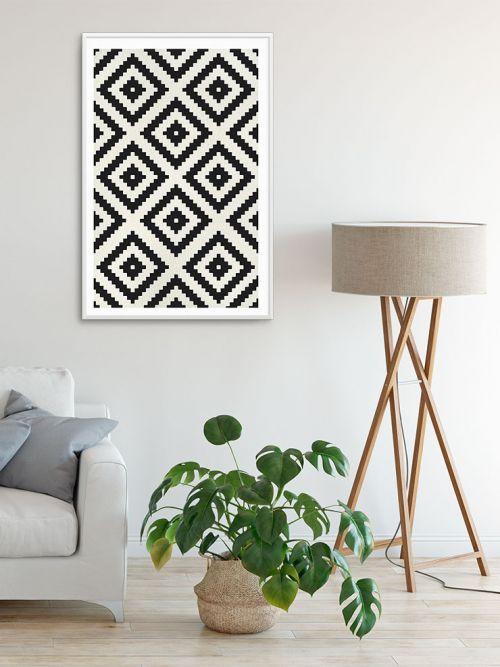 Cuadro decorativo diseño geométrico