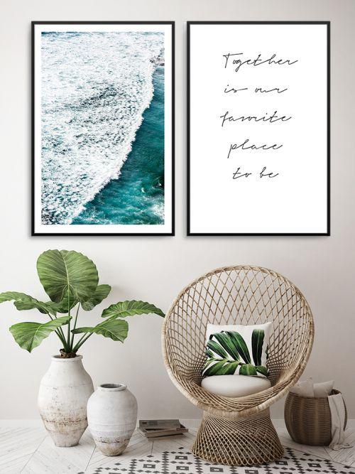 Cuadro decorativo mar