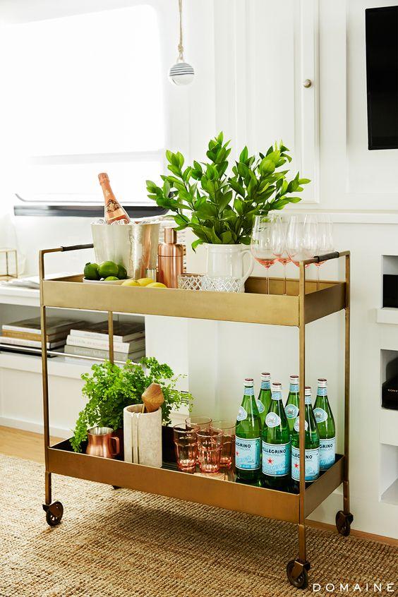 Camareras o carritos de bebidas un toque retro para tu sala de estar tu casa bonita - Carrito bebidas ...