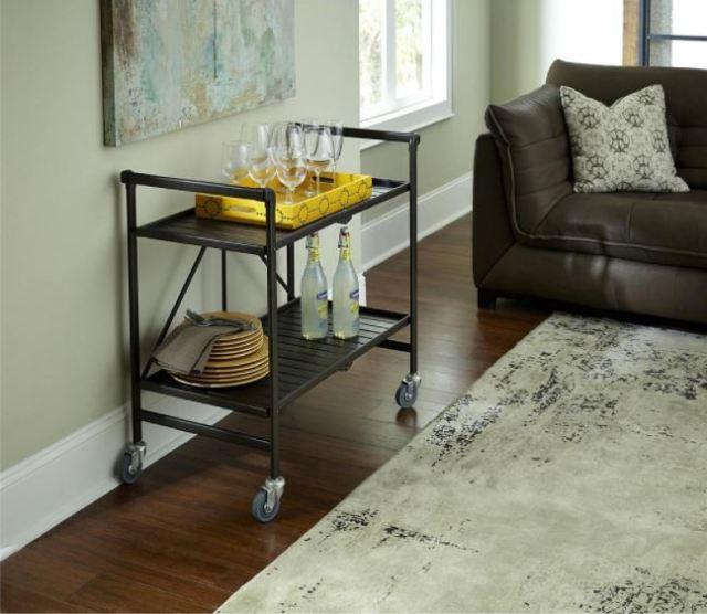 Mesa camarera o carrito de bebidas para sala de estar 7