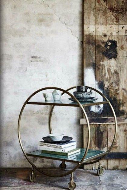 Camareras o carritos de bebidas un toque retro para tu sala de estar tu casa bonita - Carrito camarera vintage ...