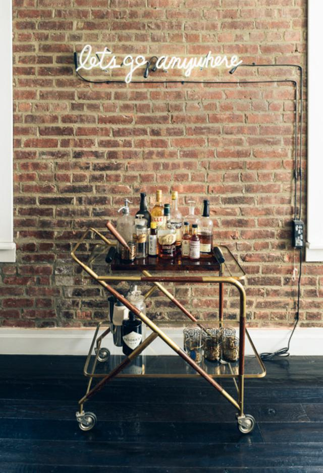 Mesa camarera o carrito de bebidas para sala de estar 9