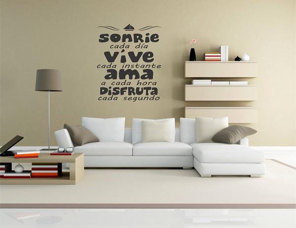 Decora con vinilos para la pared con frases de la vida - Como poner suelos de vinilo ...