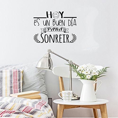 Decora con vinilos para la pared con frases de la vida tu casa bonita - Frases para vinilos habitacion ...