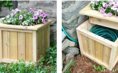 10 maneras originales de ocultar la manguera del jardín