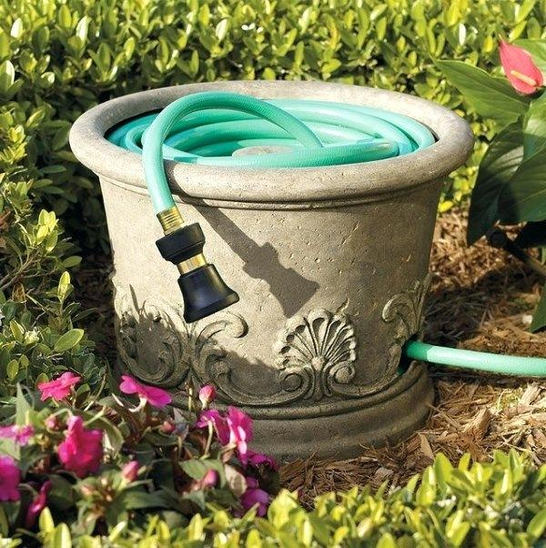 Guardar y esconder manguera del jardín 3