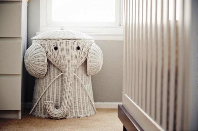 Habitación bebé cesta