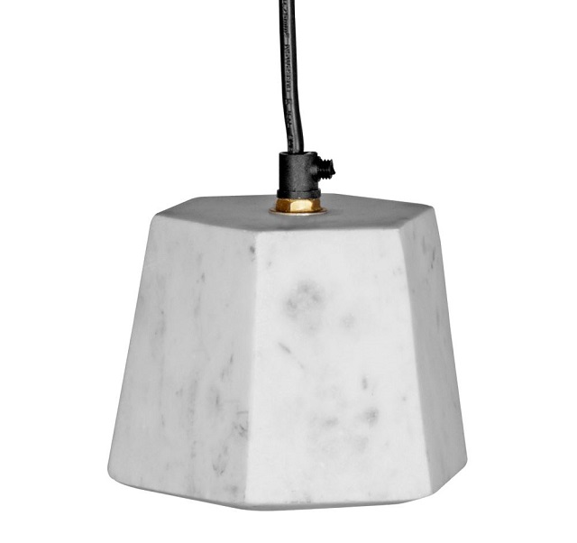 Lámparas de diseño de mármol