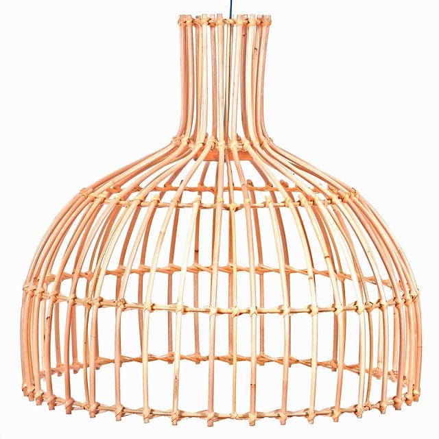 Lámparas de diseño de rattan