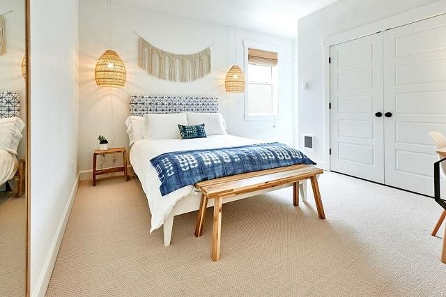 Dormitorio decoración de verano