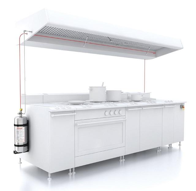 Sistema contra incendios cocina