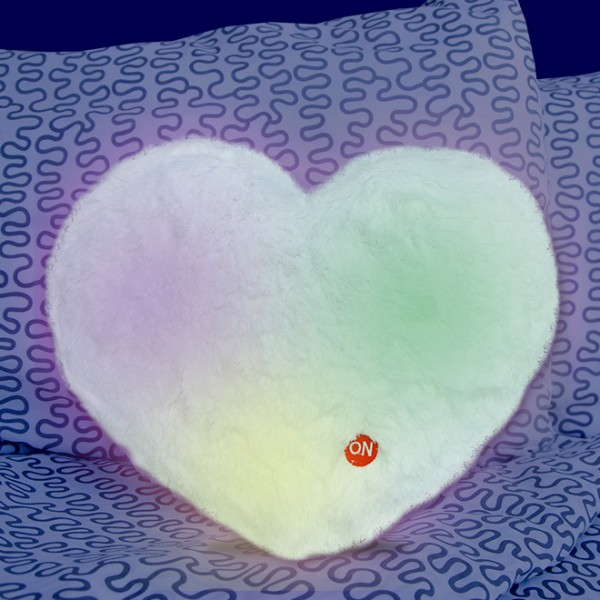 Cojín de luz corazón