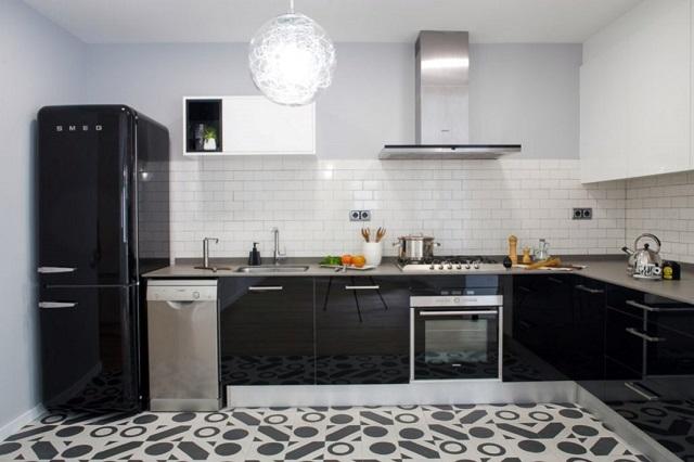 Diseño de cocina colores negros