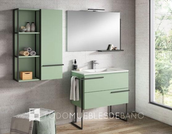 Muebles de baño 100 cm color verde