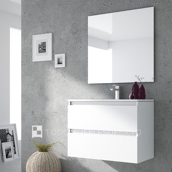 Muebles de baño 100 cm blancos