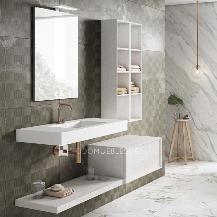 Muebles de baño 100 cm blancos 2