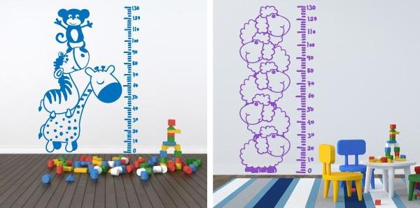 Vinilo infantil medir altura