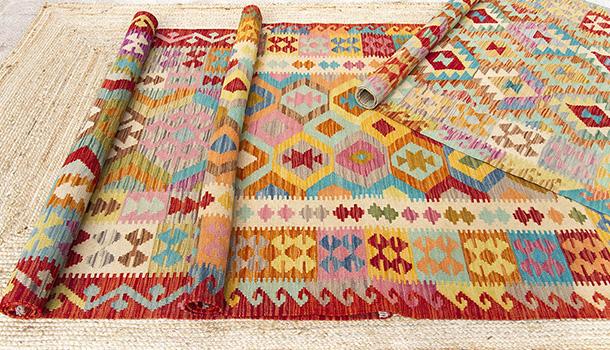 Fibra natural y kilims: la combinación perfecta para decorar tu hogar