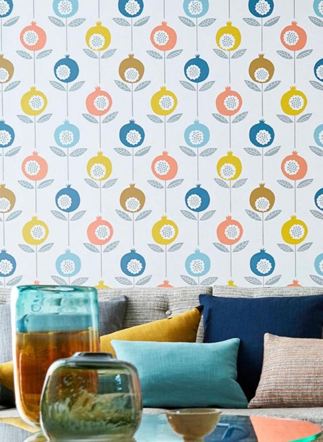 Decora las paredes de tu casa con papeles pintados de los - Papeles de los 70 ...