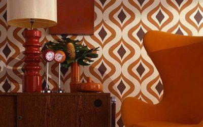 Decora las paredes de tu casa con papeles pintados de los 70