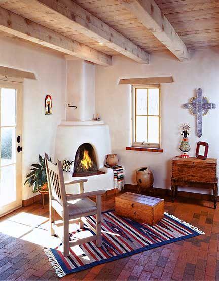 Casa mexicana tradicional adobe interior