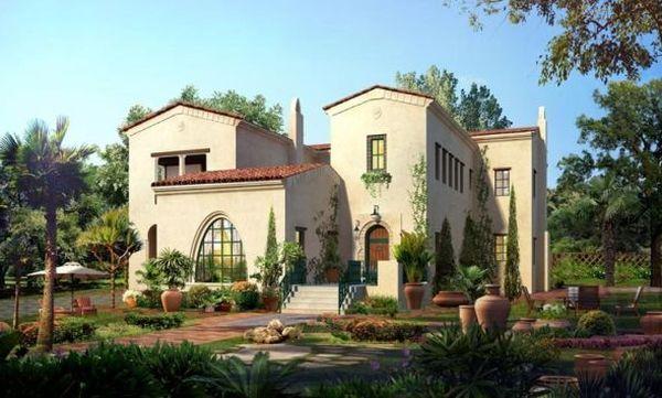 Casa mexicana estilo villa española colonial