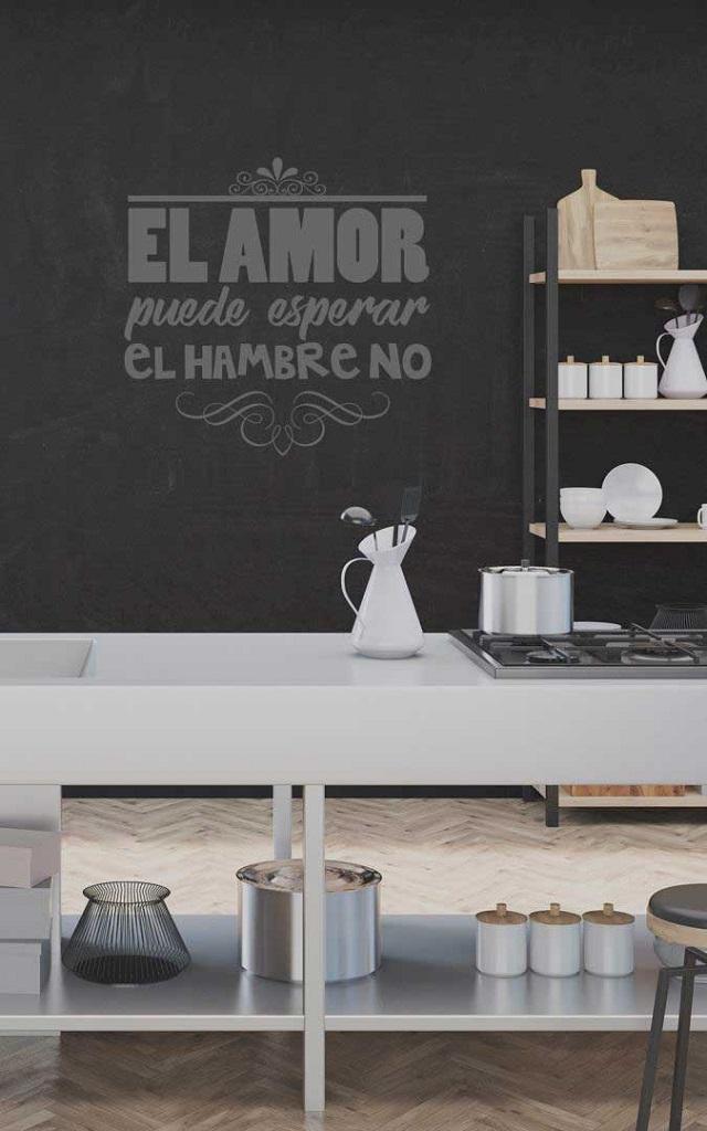 Ideas para decorar una cocina original, vinilos de pared