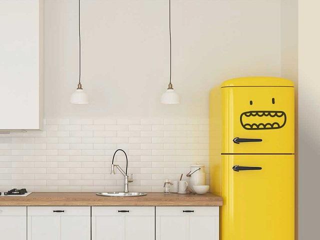 Ideas para decorar una cocina original, vinilos de nevera
