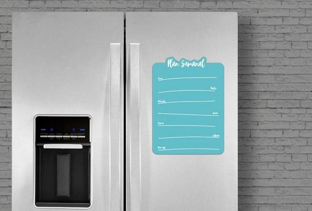 Ideas para decorar una cocina original, pizarra magnética