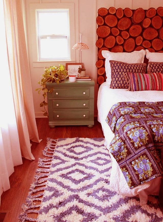 Ideas para decorar el dormitorio en otoño con alfombras