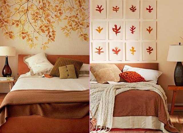 Ideas para decorar el dormitorio en otoño con cojines