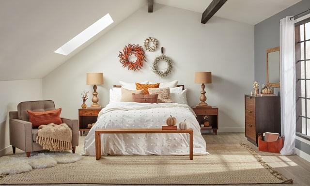 Ideas para decorar el dormitorio en otoño y hacerlo más cálido y acogedor